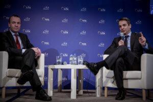 Μητσοτάκης σε Βέμπερ: «Καλή χρονιά το 2019 για την Ελλάδα και το Ευρωπαϊκό Λαϊκό Κόμμα»