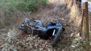 Νεκρός οδηγός μηχανής σε τροχαίο στη Μονεμβασιά