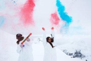 Ημαθία: Χρωματίζουν το άσπρο του χιονιού – Τι θα συμβεί στο χιονοδρομικό του Σελίου [pics]