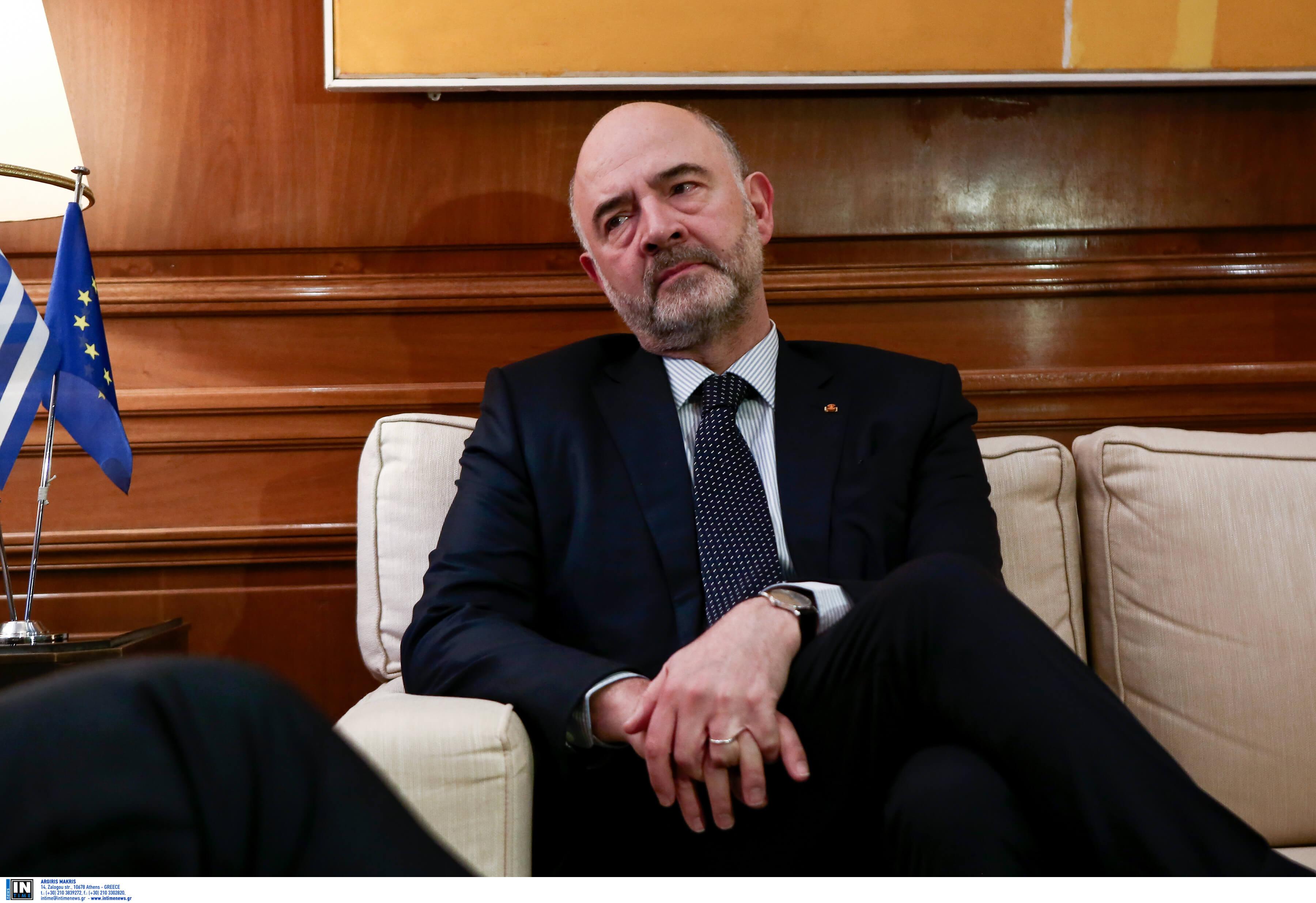 Μοσκοβισί: Δύο οι βασικές εκκρεμότητες μέχρι το Eurogroup – Εφικτή η εκταμίευση της δόσης αλλά…