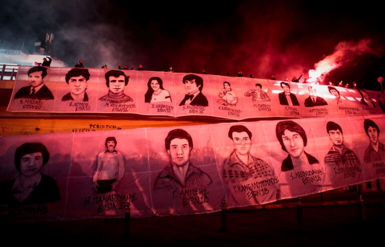 """Ολυμπιακός: Τίμησαν τη μνήμη των θυμάτων της Θύρας 7 οι """"ερυθρόλευκοι""""! [pics]"""
