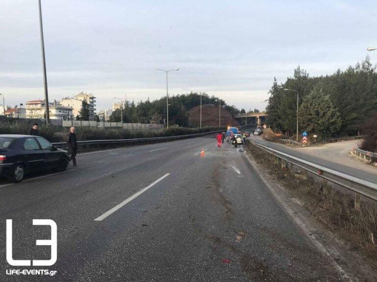 Θεσσαλονίκη: Απανθρακώθηκε οδηγός στον Περιφερειακό – Φρικτός θάνατος σε φλεγόμενο όχημα [pic]