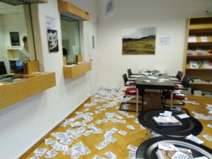 Εισβολή Ρουβίκωνα στην πρεσβεία της Ελβετίας στο Κολωνάκι