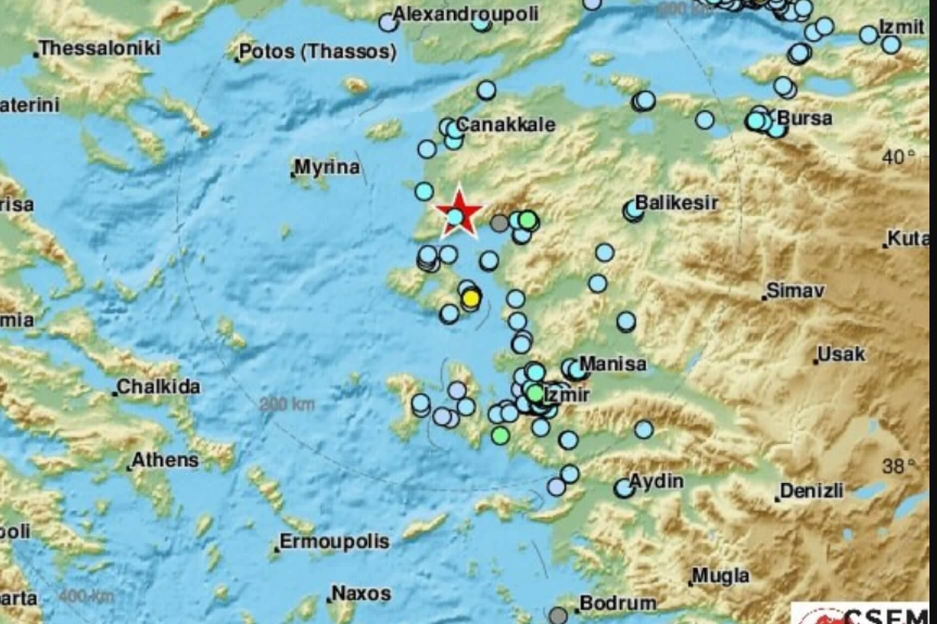 Σεισμός αισθητός στη Λέσβο: Τι καταγράφουν οι σεισμογράφοι – Συνεχής ενημέρωση