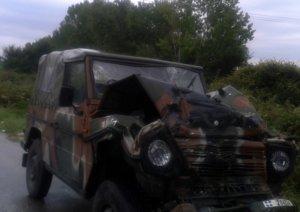 Κιλκίς: Τροχαίο με όχημα του στρατού – Έφυγε από τον δρόμο και ανατράπηκε!