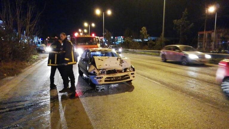 Χαλκιδική: Καραμπόλα με τρία οχήματα στην Μουδανιών – video