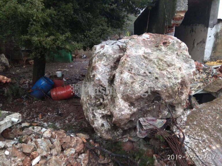 Σφακιά: Αυτός είναι ο βράχος των 25 τόνων που διέλυσε σπίτι – Τρόμος για γυναίκα που βρισκόταν μέσα [pics]   Newsit.gr