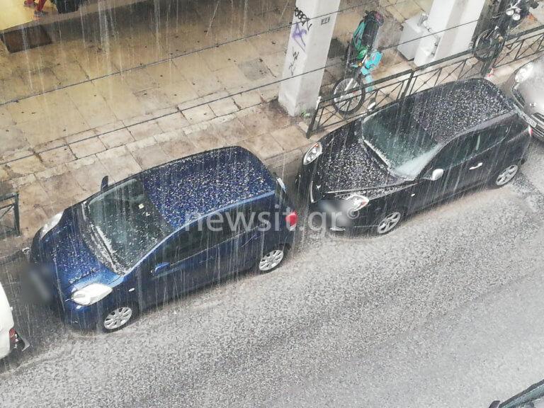 Καιρός: Ισχυρή χαλαζόπτωση στην Αθήνα! video | Newsit.gr