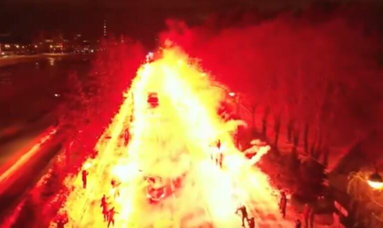 """""""Πύρινη λάβα"""" στη Ρωσία! Απίστευτη υποδοχή στους παίκτες της Ζενίτ – video"""