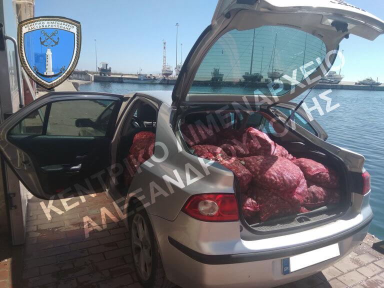 Αλεξανδρούπολη: Μέσα στο αυτοκίνητο αυτές οι εικόνες – Θα πουλούσαν στην αγορά ακατάλληλα όστρακα [pics]