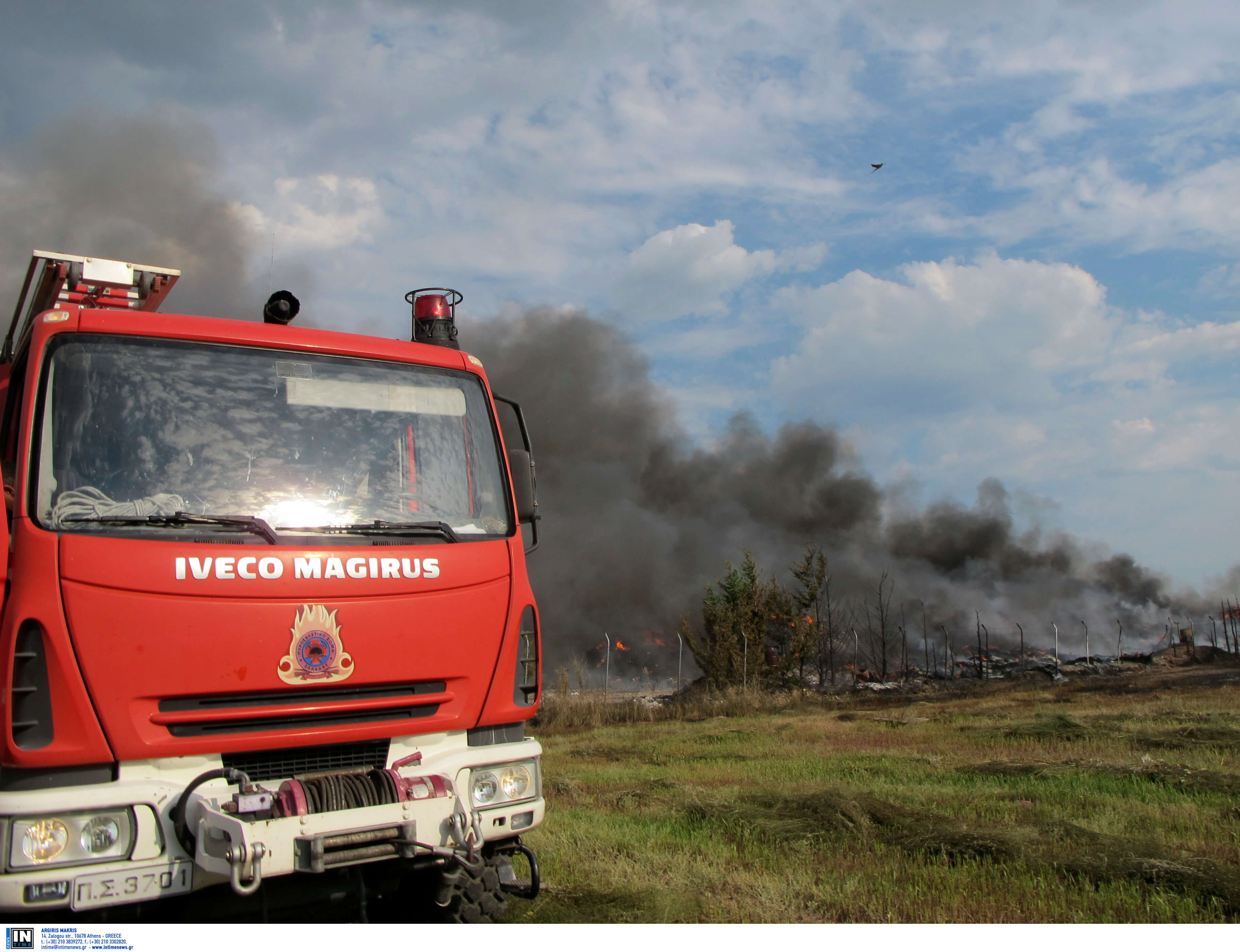 Φωτιά κοντά στα διόδια των Μαλγάρων
