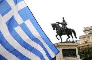 Το άγαλμα του καπετάν Θοδωράκη (Κολοκοτρώνη)