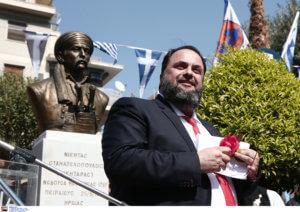 Βαγγέλης Μαρινάκης: Έκανε τα αποκαλυπτήρια της προτομής του Νικηταρά! [pics]