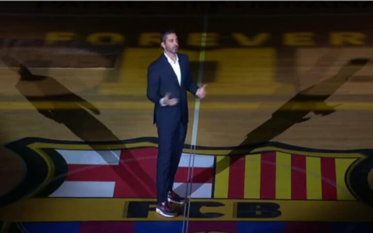 Μπαρτσελόνα: Τιμήθηκε ο Ναβάρο! Στην κορυφή του «Παλάου Μπλαουγκράνα» η φανέλα του – video | Newsit.gr