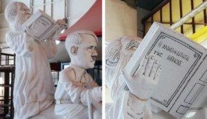 Πάτρα: Ο Αμβρόσιος και ο Χίτλερ! Αυτό είναι το άρμα που «κόπηκε» από το Καρναβάλι