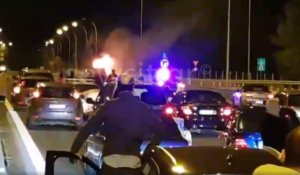 Εικόνες σοκ στην Αθηνών – Λαμίας! «Λαμπάδιασε» αυτοκίνητο – video, pics