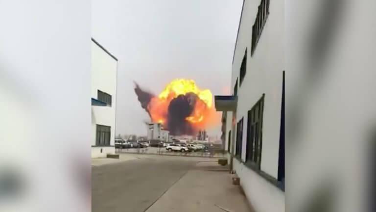 Σεισμό προκάλεσε στην Κίνα ισχυρή έκρηξη σε εργοστάσιο χημικών [video]