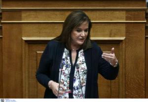 Ντόρα Μπακογιάννη: «Η χώρα απέχει πολύ από την κανονικότητα»