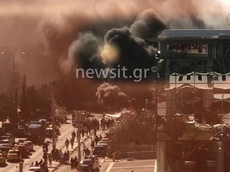 Ισχυρή έκρηξη σε πάρκινγκ στη Γλυφάδα – Απίστευτες εικόνες