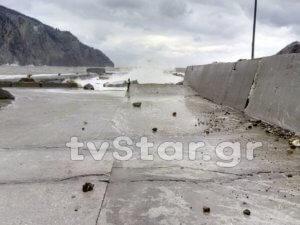 Οι άνεμοι πλήγωσαν την Εύβοια: Ζημιές, πτώσεις δέντρων και διακοπές ρεύματος [pics]
