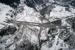 Καιρός: Απαγόρευση κυκλοφορίας οχημάτων άνω των 3,5 τόνων στην Εγνατία σε Ροδόπη και Ξάνθη