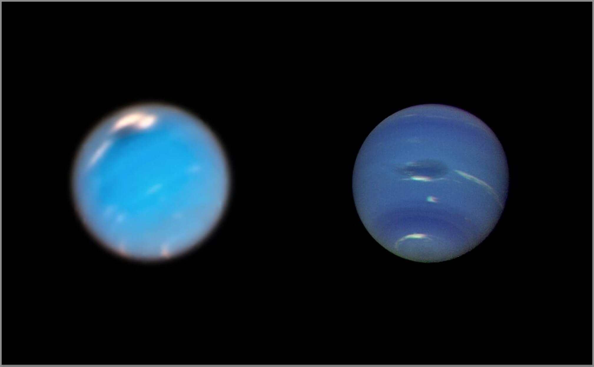 Το Hubble κατέγραψε τη γέννηση μιας θυελλώδους μεγάλης σκοτεινής κηλίδας στον Ποσειδώνα