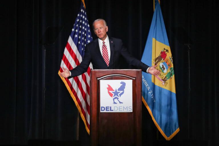 """ΗΠΑ: Ο Τζο Μπάιντεν ανακοίνωσε την υποψηφιότητά του για το """"χρίσμα""""…. καταλάθος [pics]"""