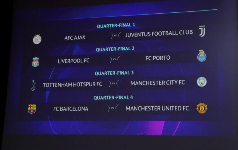 """Κλήρωση Champions League: Ματσάρες στα προημιτελικά! Τα 4 ζευγάρια στους """"8"""""""