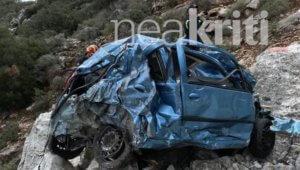 Εικόνες – σοκ από το αυτοκίνητο της μητέρας που έπεσε στο γκρεμό μαζί με τα παιδιά της!
