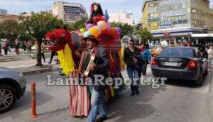 Η βόλτα της «Λαμιώτικης Γκαμήλας» στους δρόμους της πόλης – video