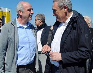 Ζάκυνθος: Τα χαμόγελα του Βαγγέλη Μεϊμαράκη στο λιμάνι – Έφτασε με το πλοίο της γραμμής – video