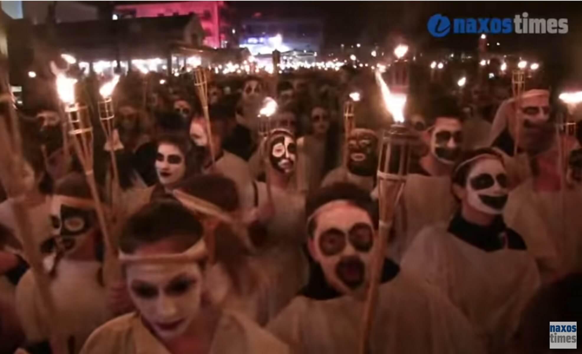 Σείστηκε το Αιγαίο από τους Λαμπαδηφόρους της Νάξου – video