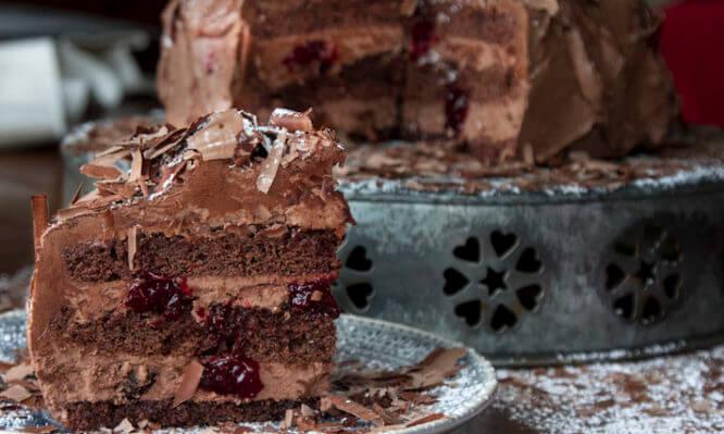 Νηστίσιμη τούρτα black forest με υπογραφή Πετρετζίκη!