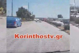 Κόρινθος: Διαπίστωσε ότι οδηγούσε ανάποδα στην εθνική οδό και πήρε αυτή την απόφαση – video