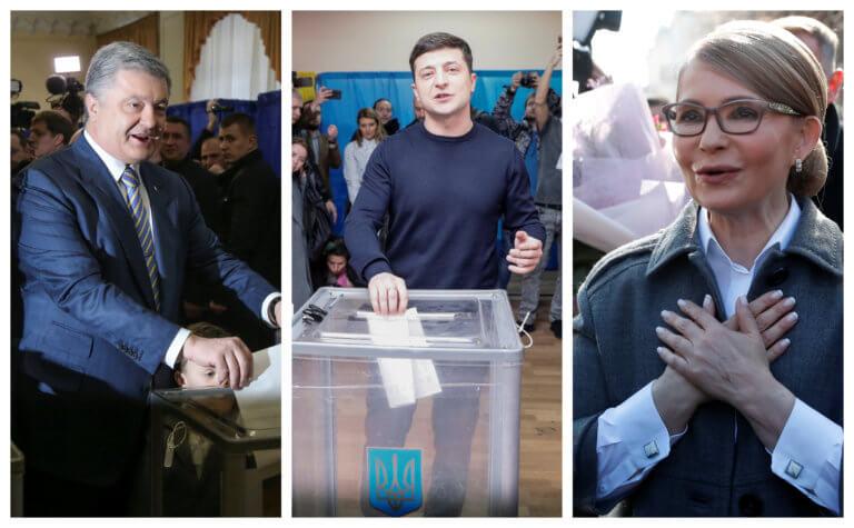 Ουκρανία: Ψήφισαν οι τρεις «οδηγοί» της εκλογικής κούρσας pics]