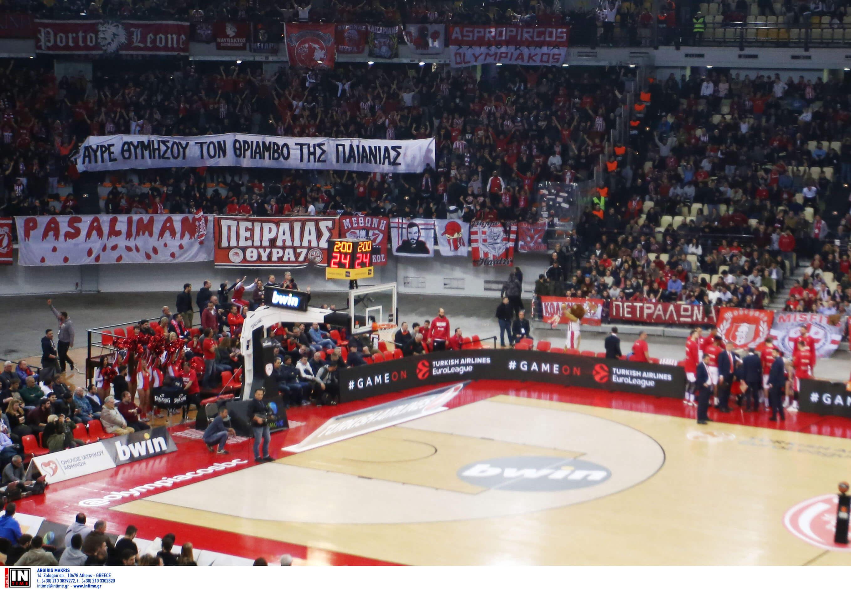 Ολυμπιακός: Εμετικά πανό στο ΣΕΦ για τον Φιλόπουλο! Κινείται νομικά ο Παναθηναϊκός [pic]