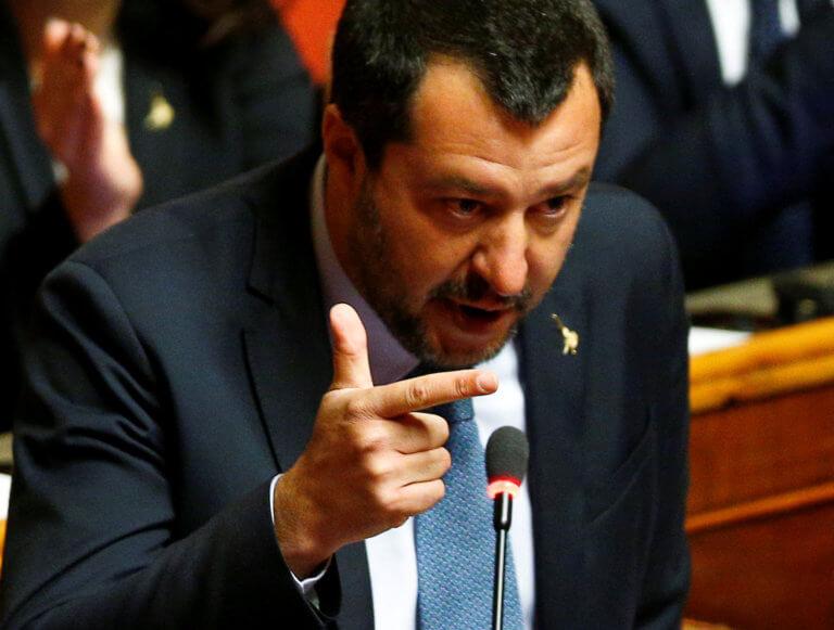 Ιταλία: Απορρίφθηκε εισαγγελικό αίτημα για παραπομπή Σαλβίνι σε δίκη