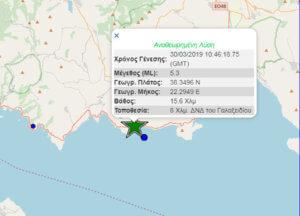 Σεισμός στο Γαλαξίδι, αισθητός σε Αθήνα και Πάτρα