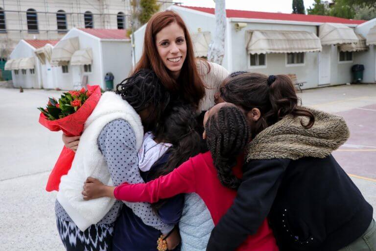 H Κατερίνα Στεφανίδη στο Χατζηκυριάκειο Ίδρυμα Παιδικής προστασίας στο πλαίσιο της Stoiximan Tokyo Team