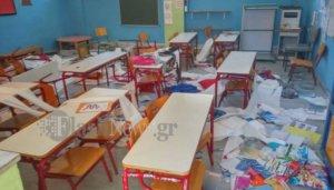 Βάνδαλοι κατέστρεψαν αίθουσες σε σχολείο της Κρήτης! – video