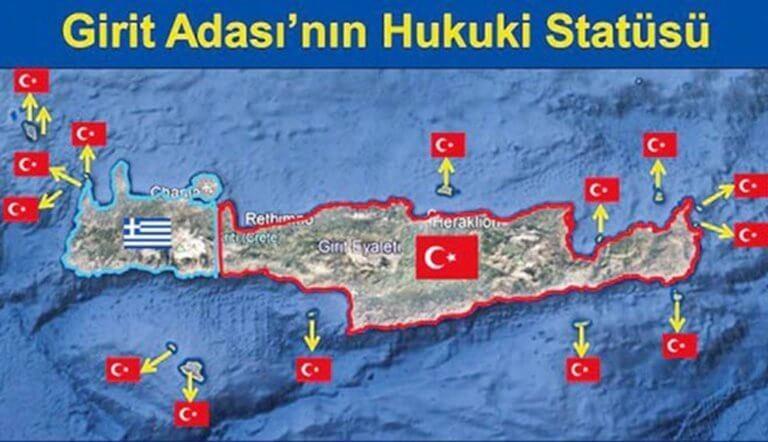 «Πήραν» και την Κρήτη οι Τούρκοι! Νέος χάρτης πρόκληση λίγες μέρες μετά τη Σούδα!