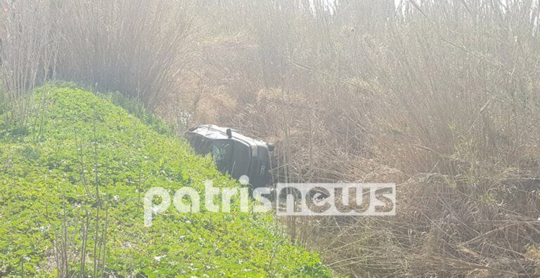 Πύργος: Αυτοκίνητο τούμπαρε σε σε κανάλι της Αλφειού! [pics]