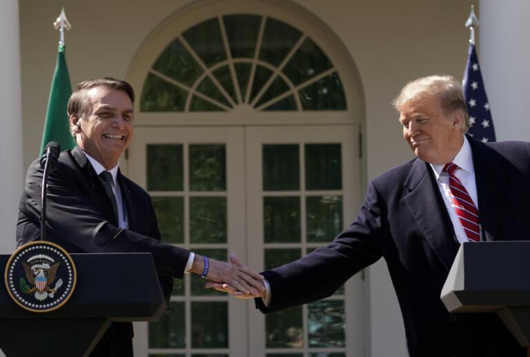 Συνάντηση Τραμπ – Μπολσονάρο: Συναντήθηκαν και… αλληλοθαυμάστηκαν!