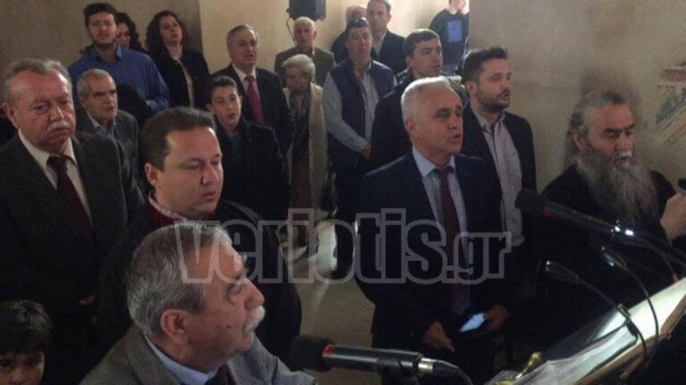 """Ψάλτες και ιερείς είπαν το """"Μακεδονία Ξακουστή"""" μέσα την Παλαιά Μητρόπολη Βέροιας! – video"""