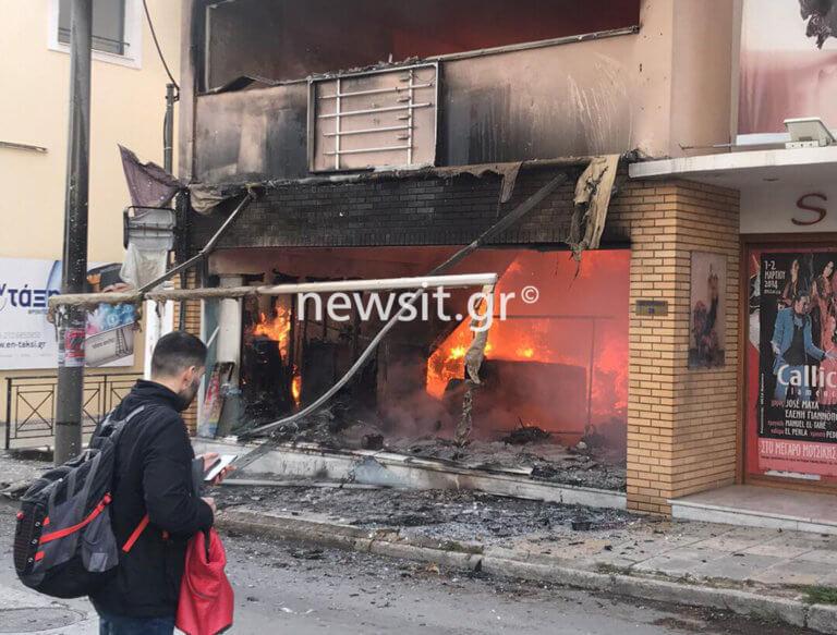 Χαλάνδρι: Αυτό είναι το κατάστημα που κάηκε – Εικόνες απόλυτης καταστροφής