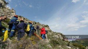 Ηράκλειο: Η δύσκολη επιχείρηση διάσωσης στο φαράγγι του Γιούχτα – Πήρε τηλέφωνο τους διασώστες [pics]