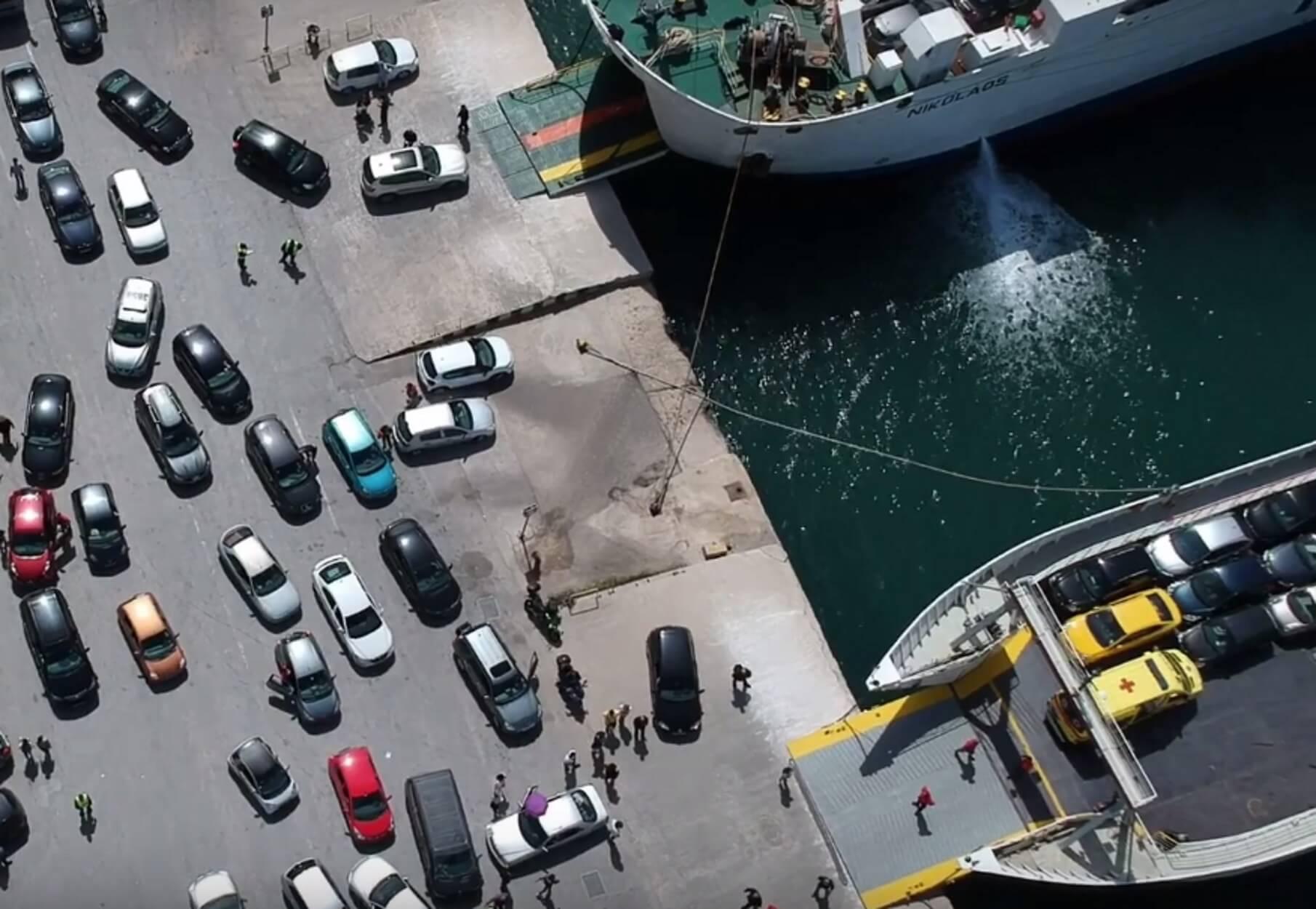 Απίστευτα πλάνα της πασχαλινής εξόδου από drone στο λιμάνι της Ηγουμενίτσας! video