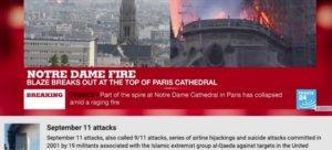 Παναγία των Παρισίων: Γκέλα του YouTube – Συνέδεσε την πυρκαγιά με την 11η Σεπτεμβρίου! Video