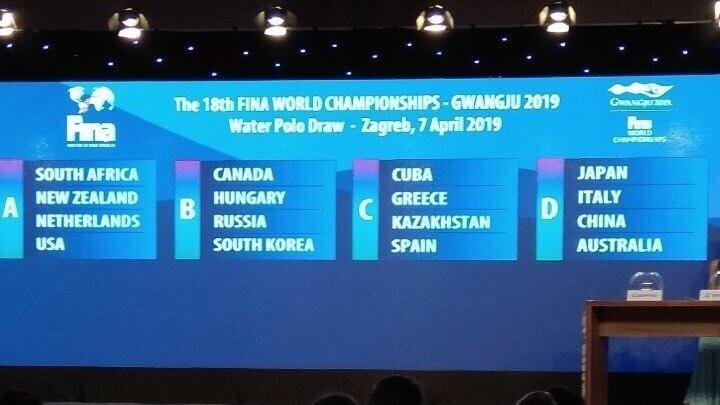 Οι αντίπαλοι των εθνικών ομάδων στο Παγκόσμιο πρωτάθλημα του πόλο