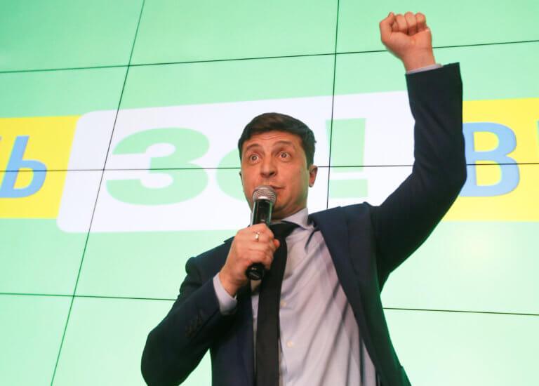 Ουκρανία εκλογές: Μεγάλη διαφορά υπέρ του κωμικού ηθοποιού Βολοντίμιρ Ζελένσκι δείχνει δημοσκόπηση